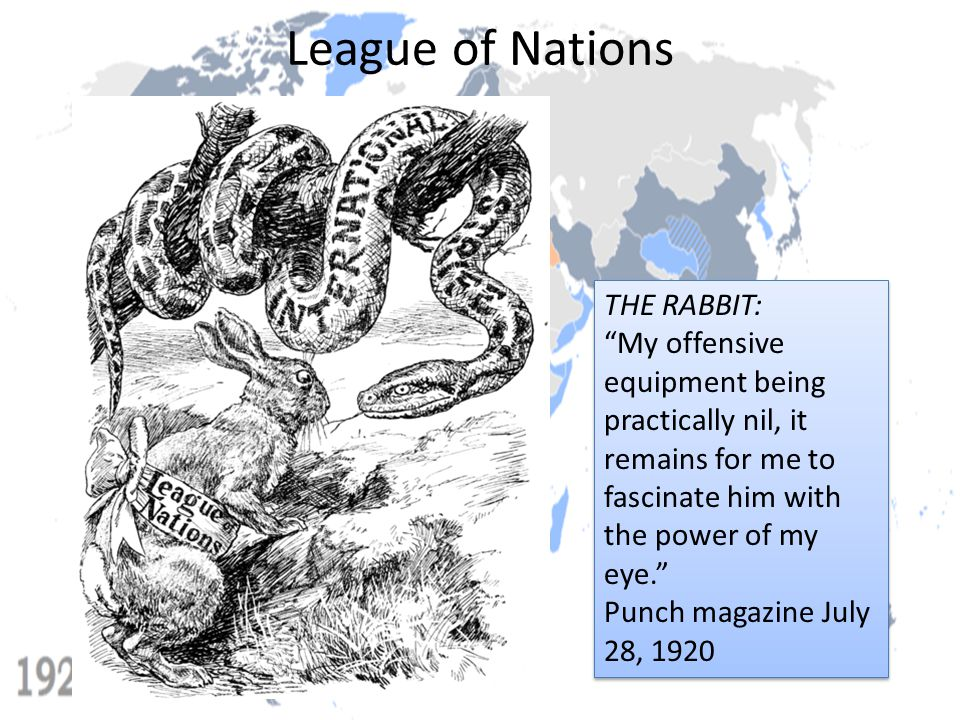 League of Nations THE RABBIT: