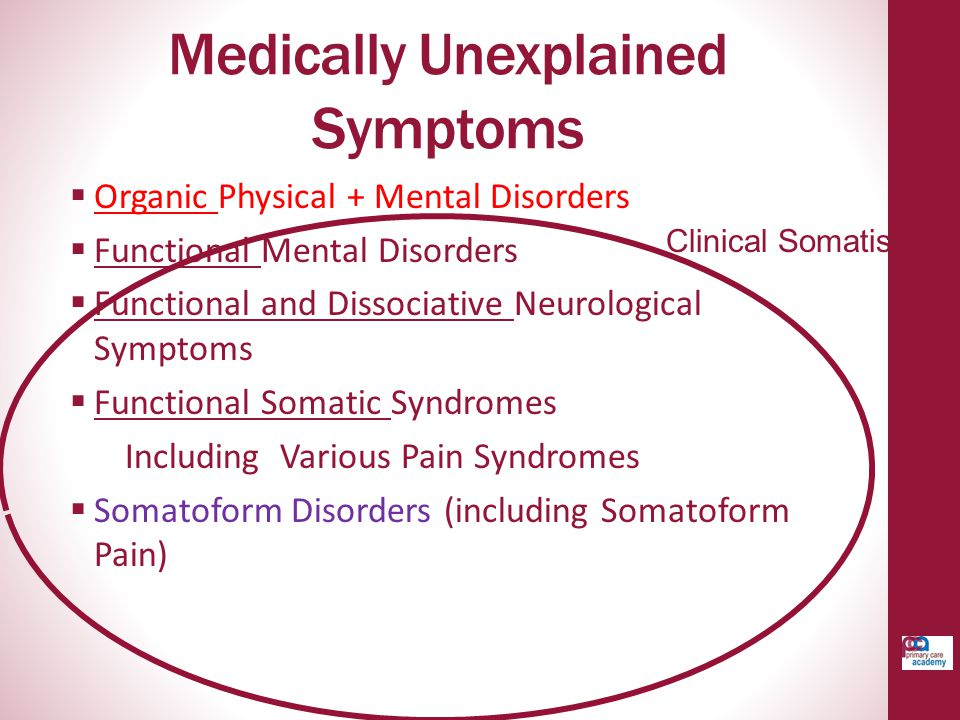 Medically Unexplained Symptoms
