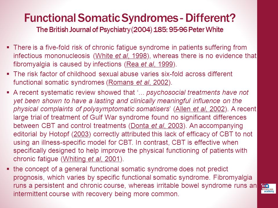 Functional Somatic Syndromes - Different