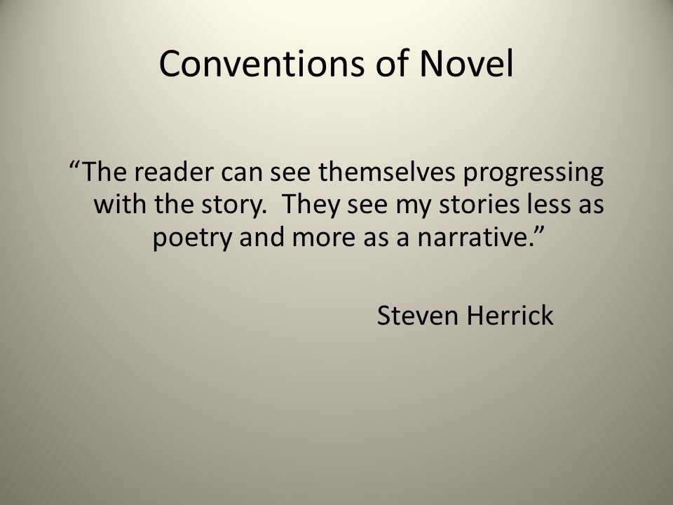 Conventions of Novel
