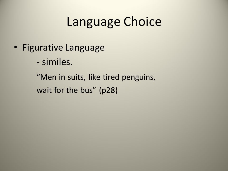 Language Choice Figurative Language - similes.