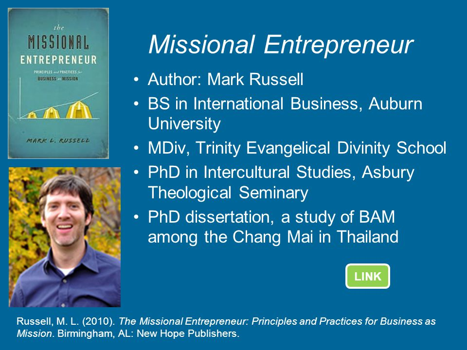 Missional Entrepreneur