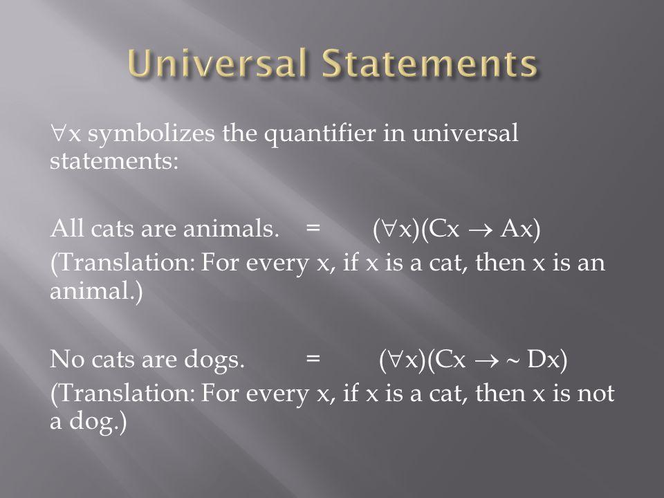 Universal Statements