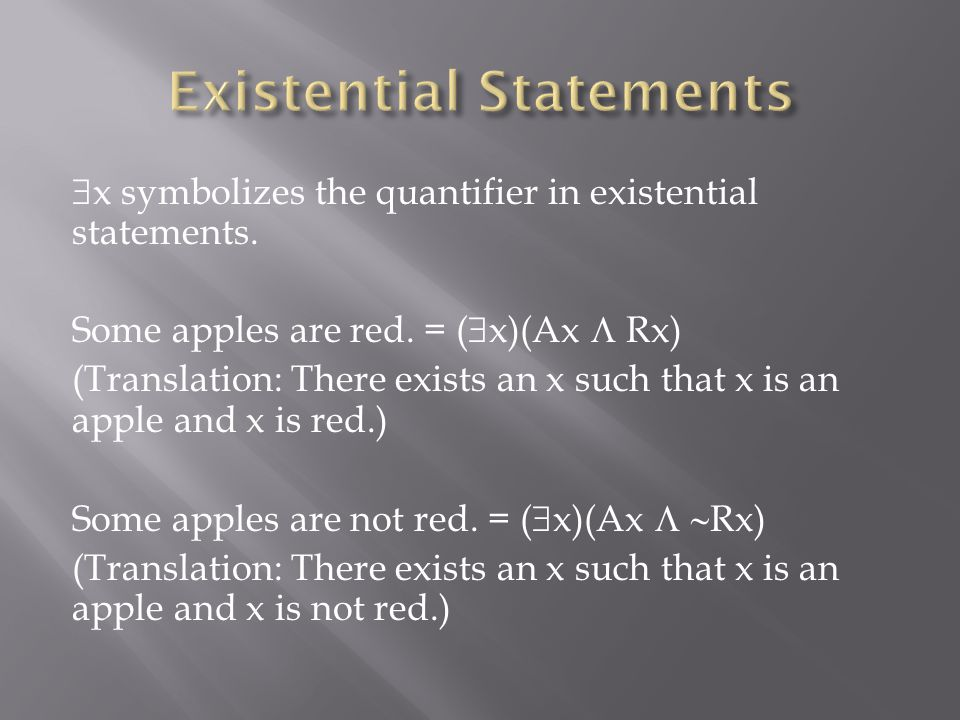 Existential Statements