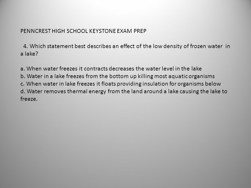 PENNCREST HIGH SCHOOL KEYSTONE EXAM PREP