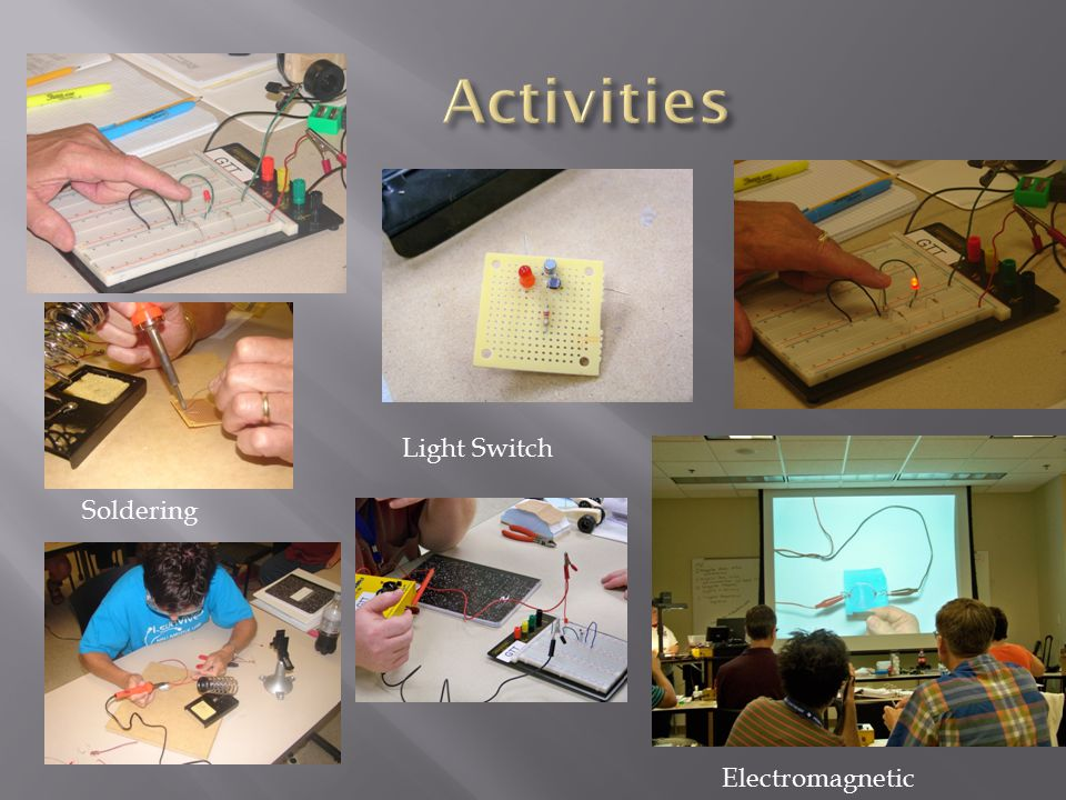 Activities Light Switch Soldering Electromagnetic