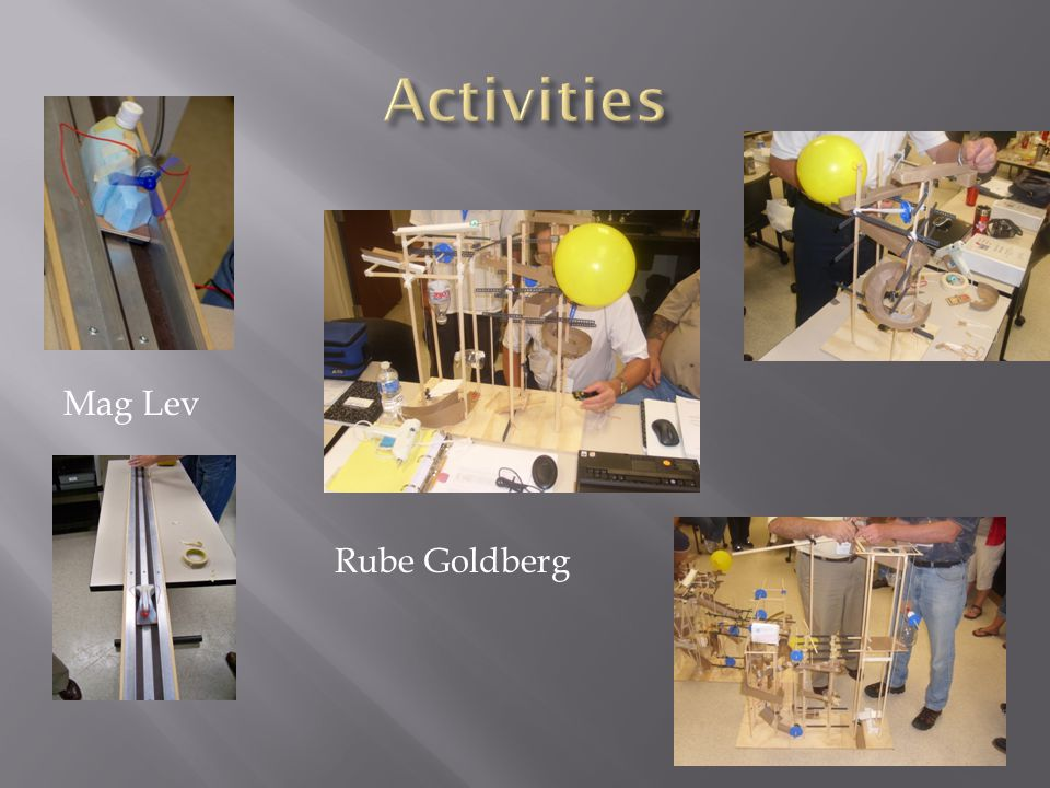 Activities Mag Lev Rube Goldberg