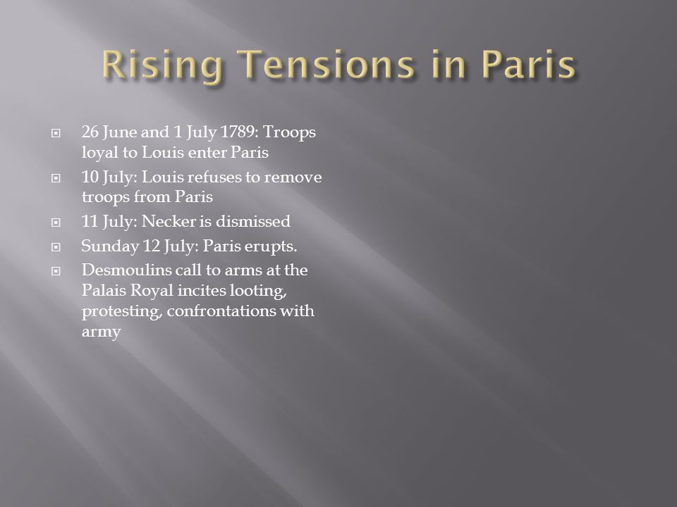 Rising Tensions in Paris