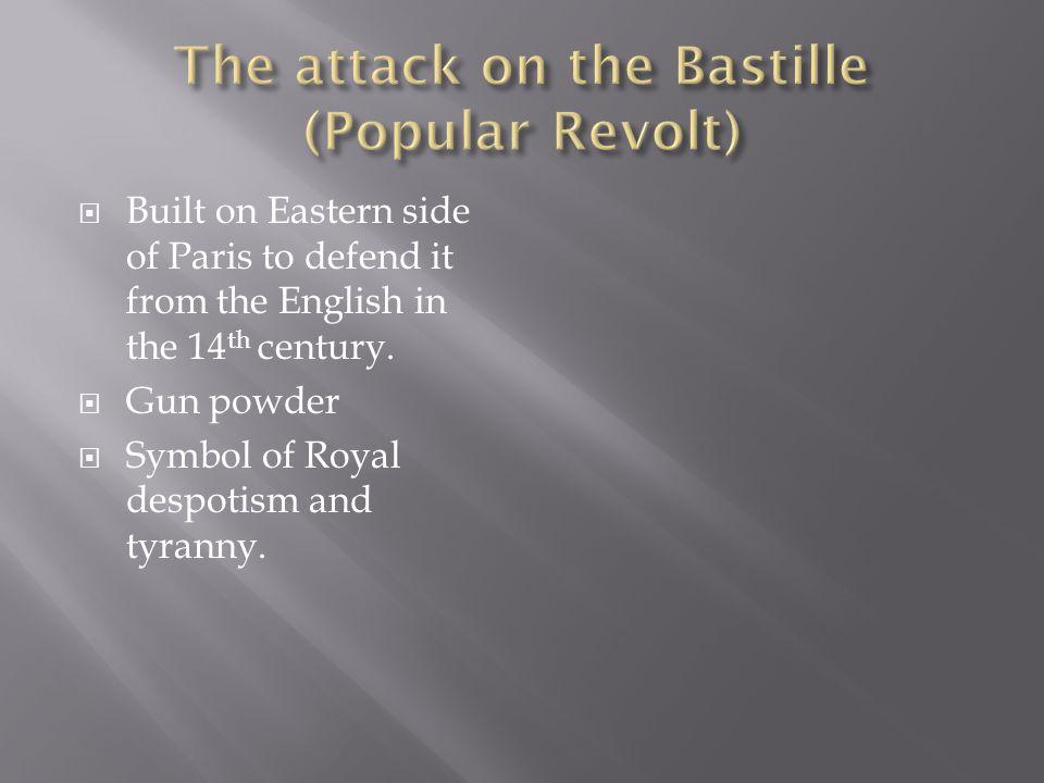 The attack on the Bastille (Popular Revolt)