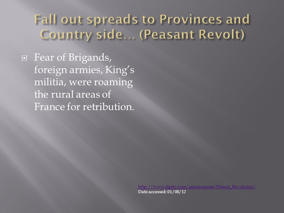 Fall out spreads to Provinces and Country side… (Peasant Revolt)
