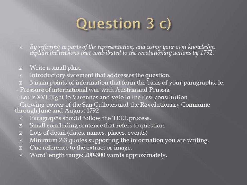 Question 3 c)