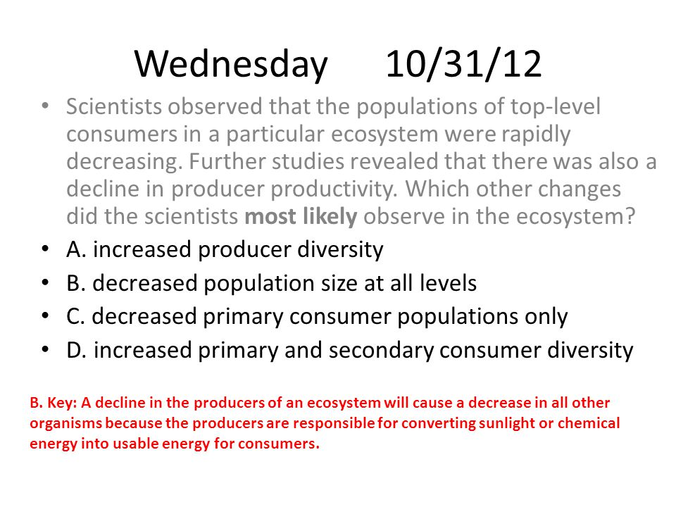 Wednesday 10/31/12