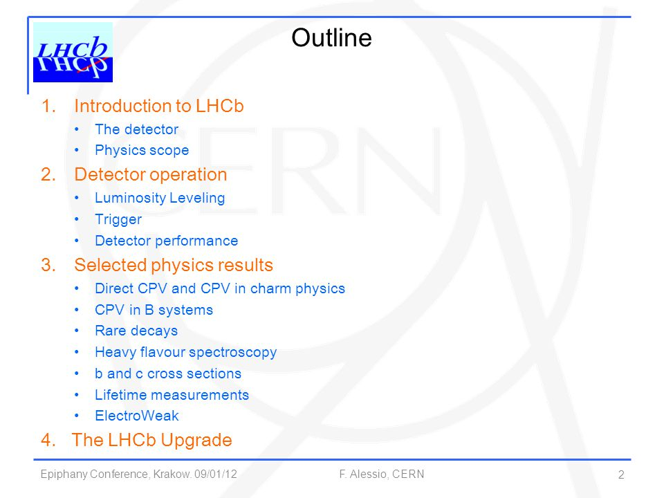 Outline Introduction to LHCb Detector operation