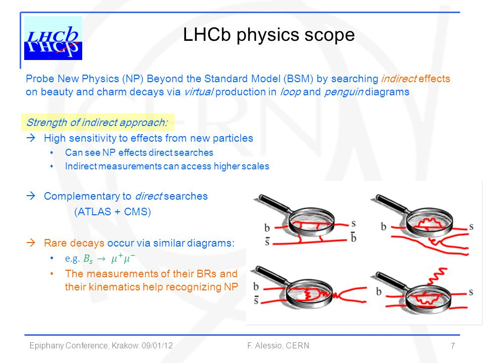 LHCb physics scope