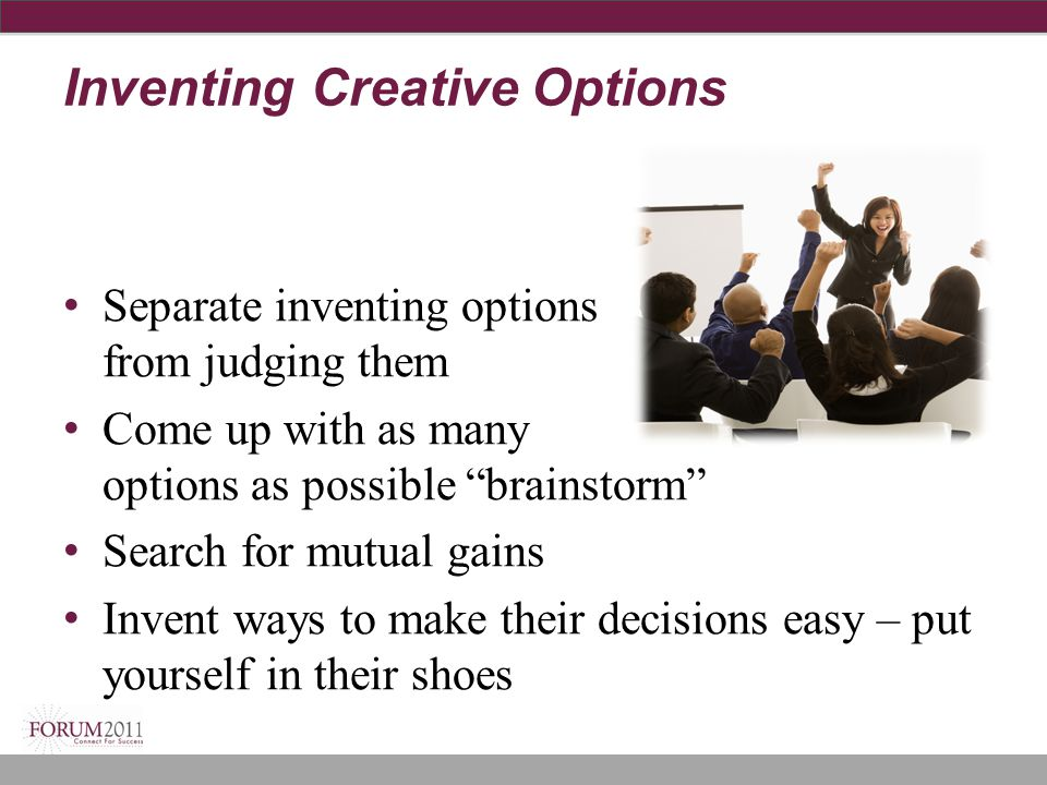 Inventing Creative Options