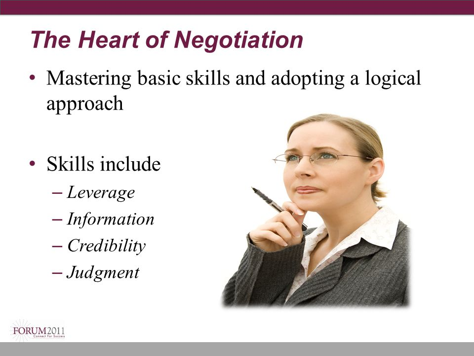 The Heart of Negotiation