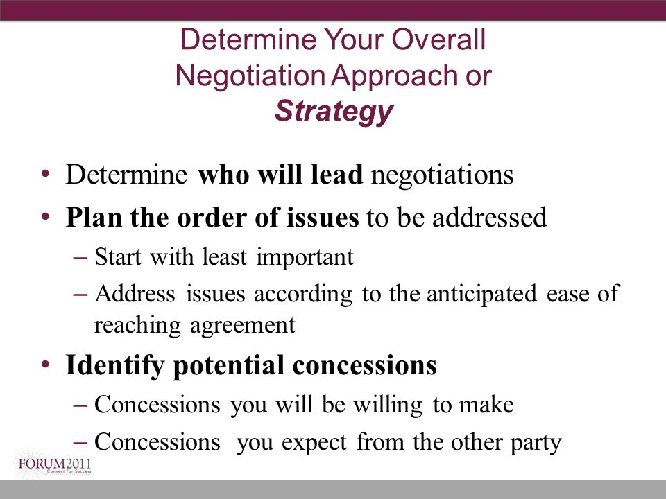Determine Your Overall Negotiation Approach or Strategy