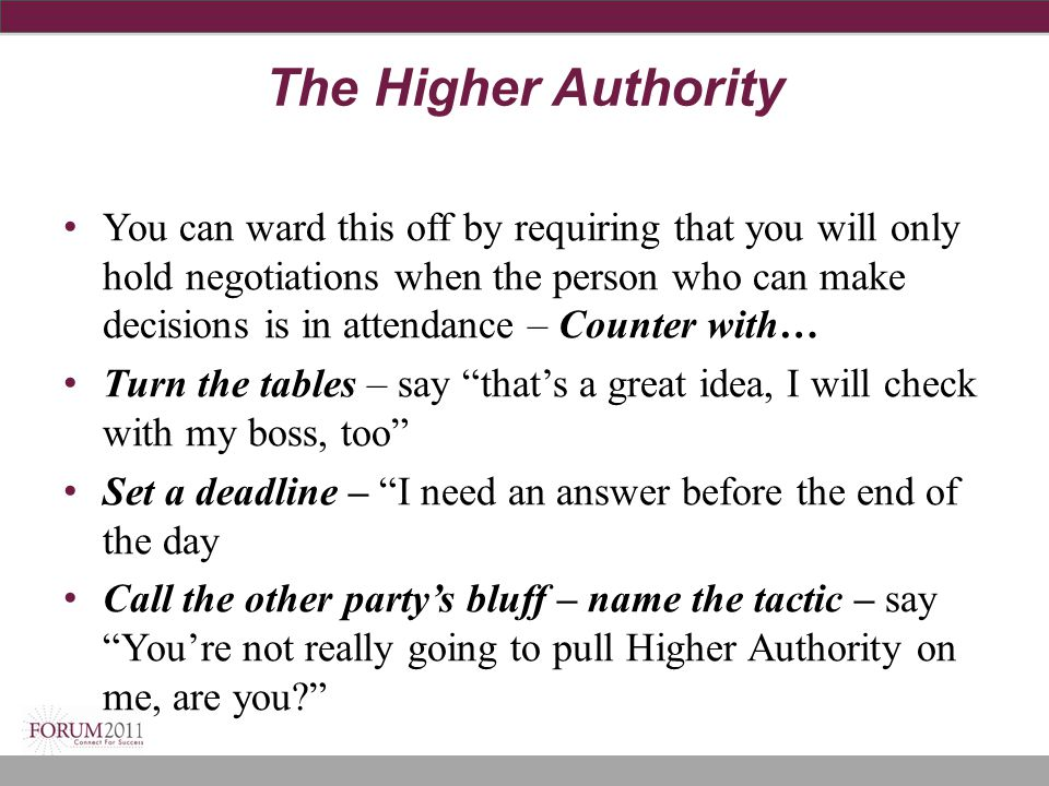 The Higher Authority
