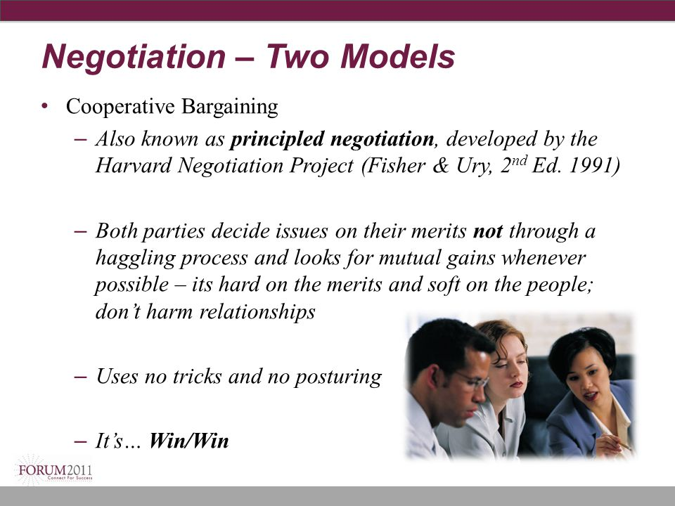 Negotiation – Two Models