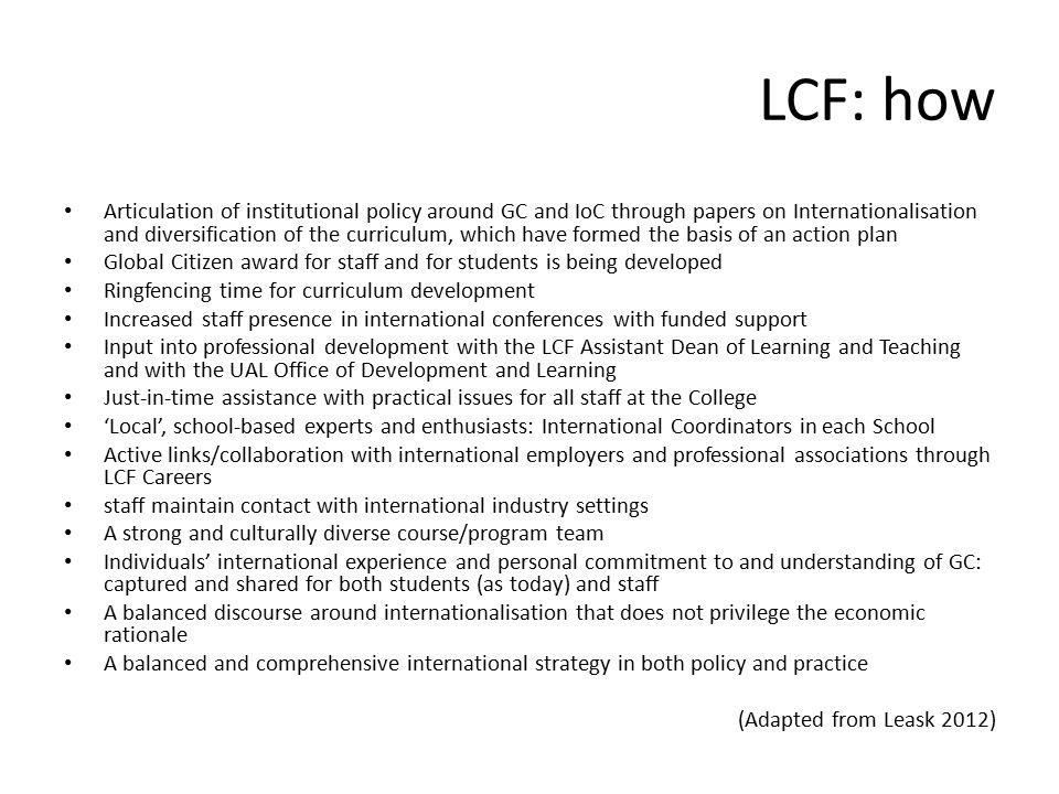 LCF: how