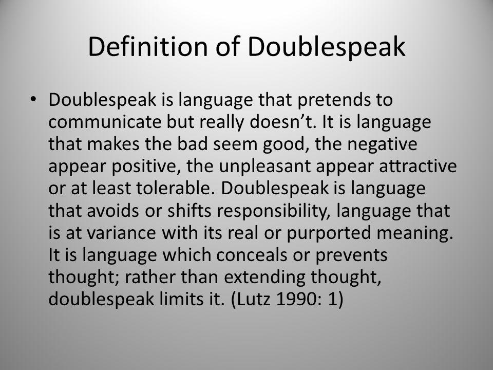 Definition of Doublespeak