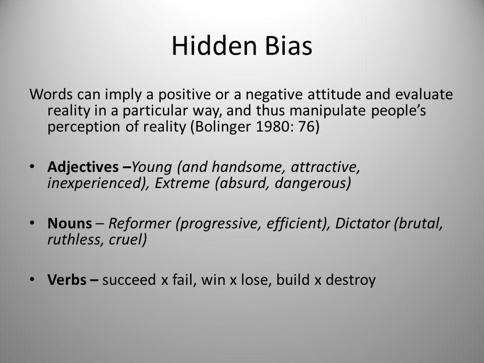 Hidden Bias