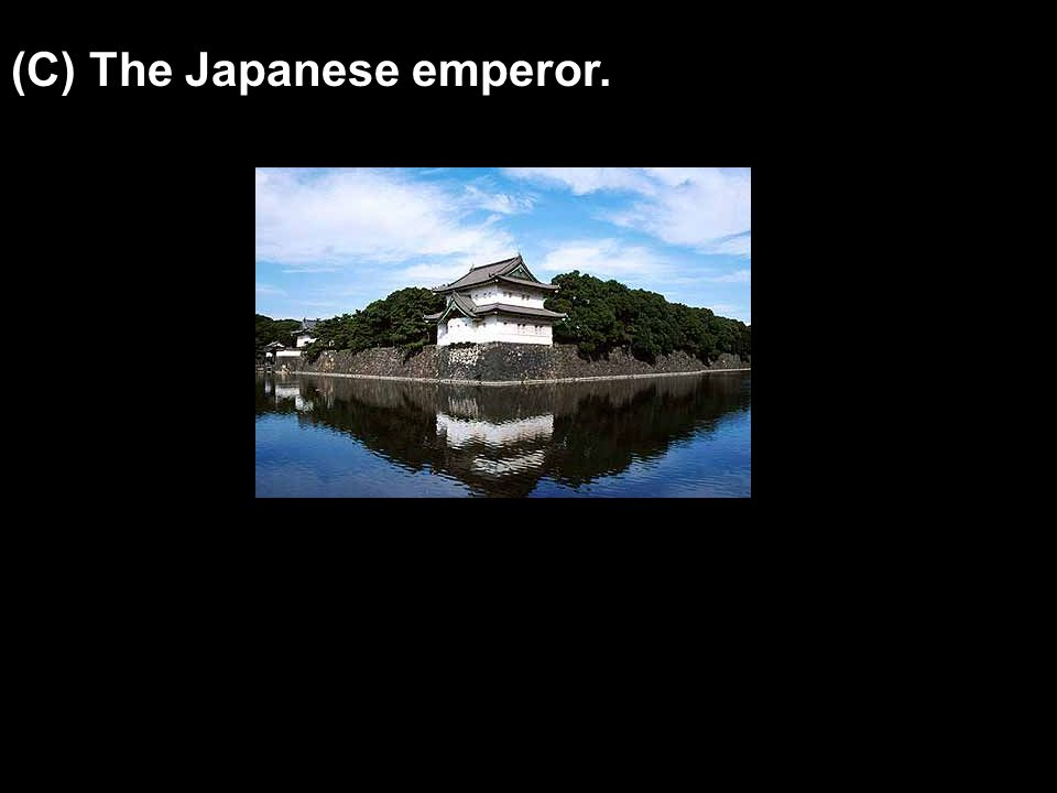 (C) The Japanese emperor.