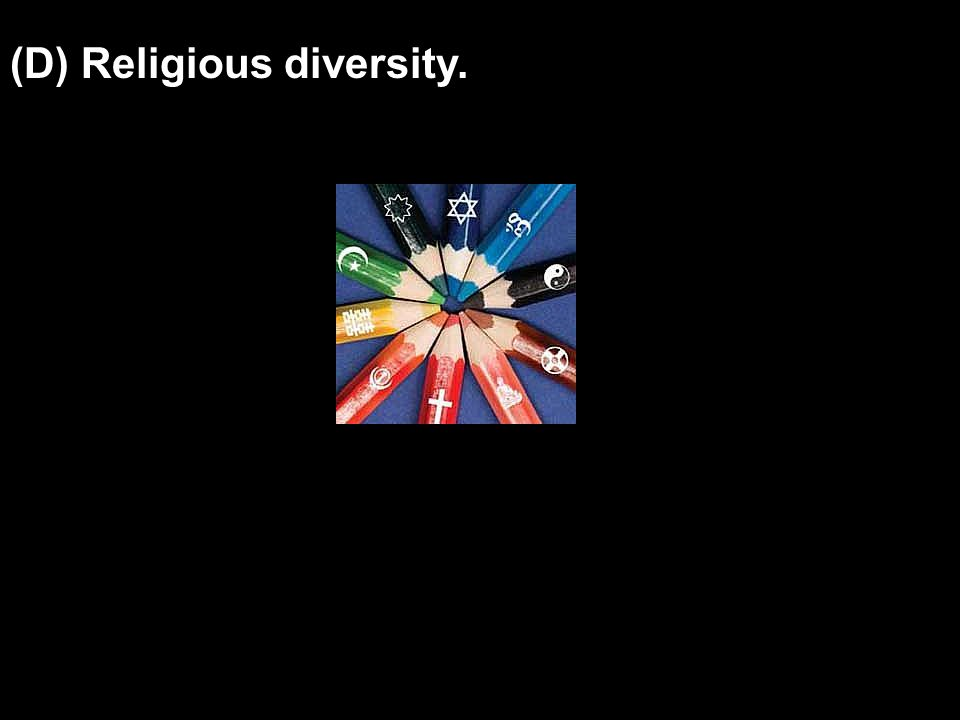 (D) Religious diversity.