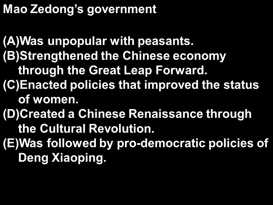 Mao Zedong's government