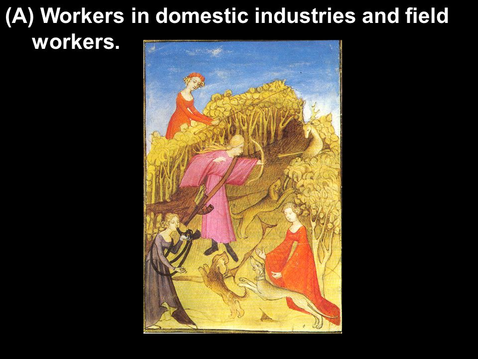 (A) Workers in domestic industries and field workers.