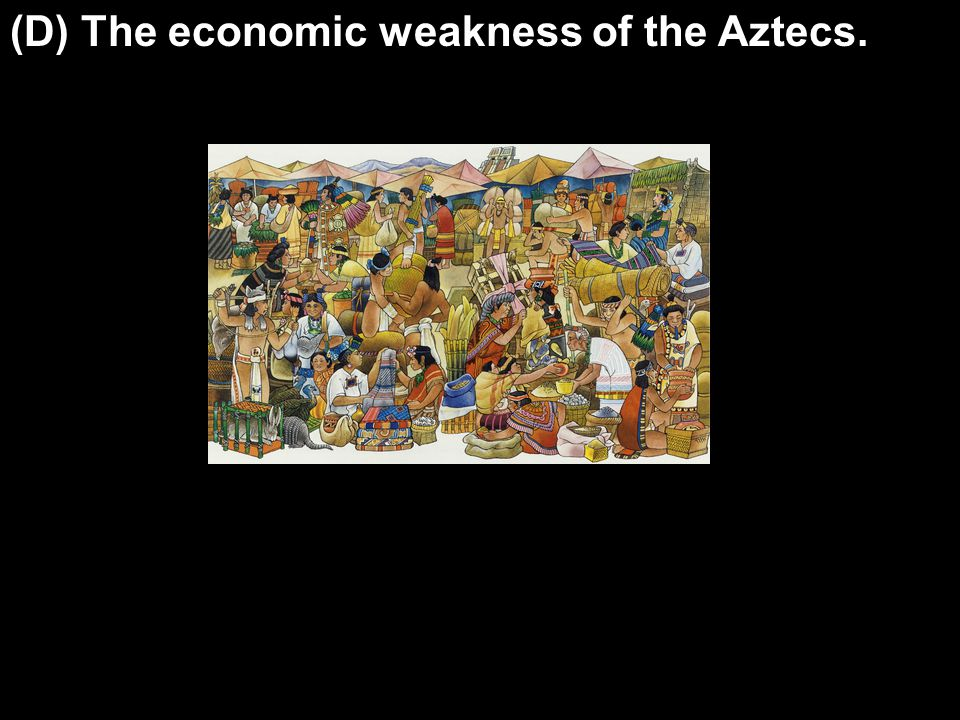 (D) The economic weakness of the Aztecs.