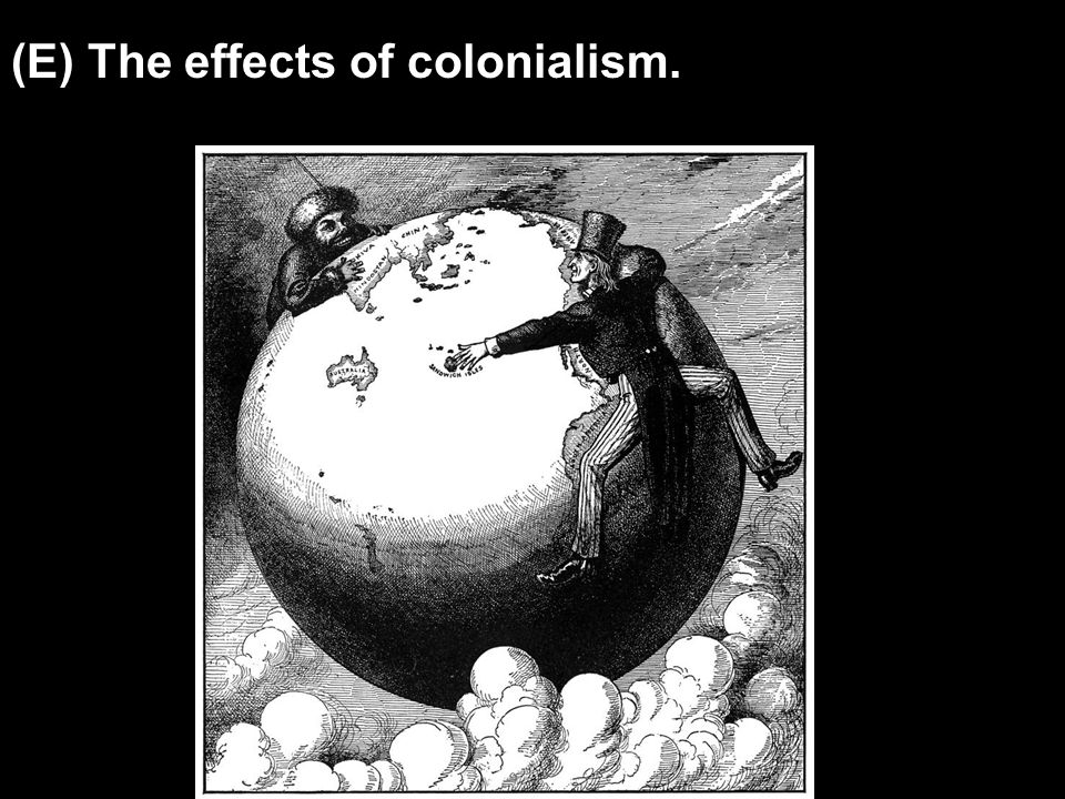 (E) The effects of colonialism.