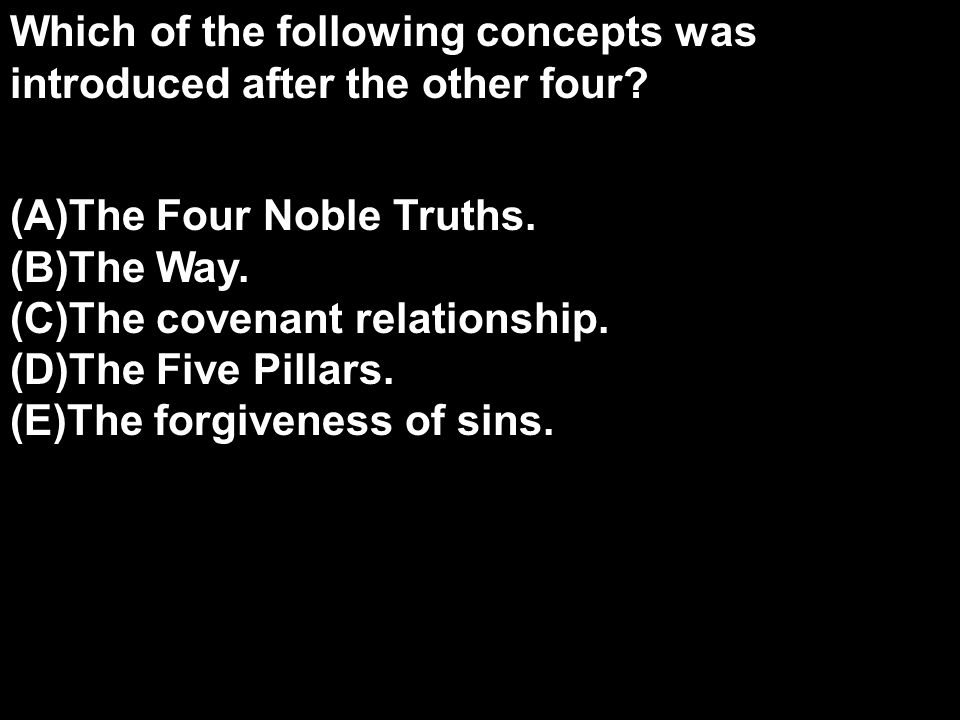 Which of the following concepts was introduced after the other four