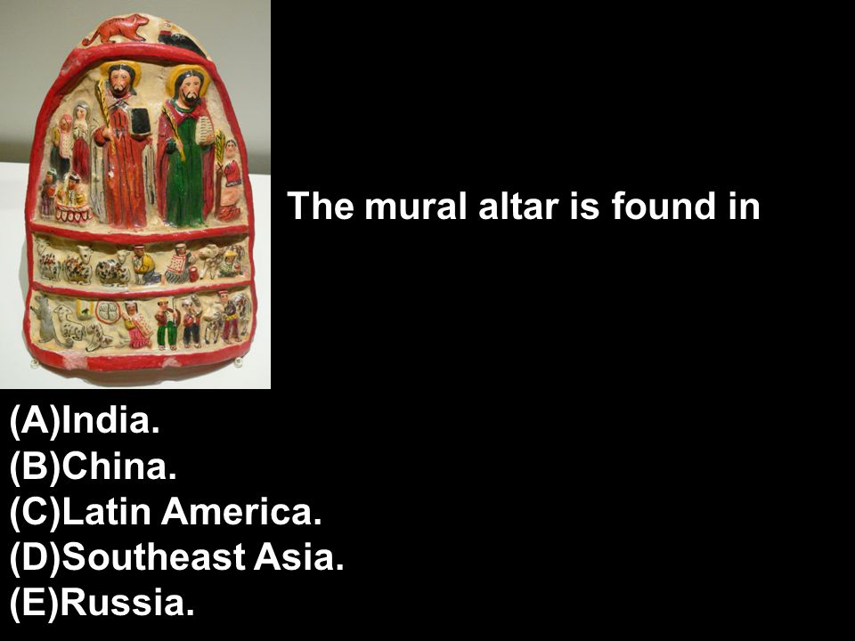The mural altar is found in