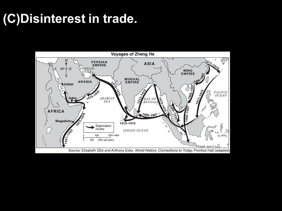 (C)Disinterest in trade.