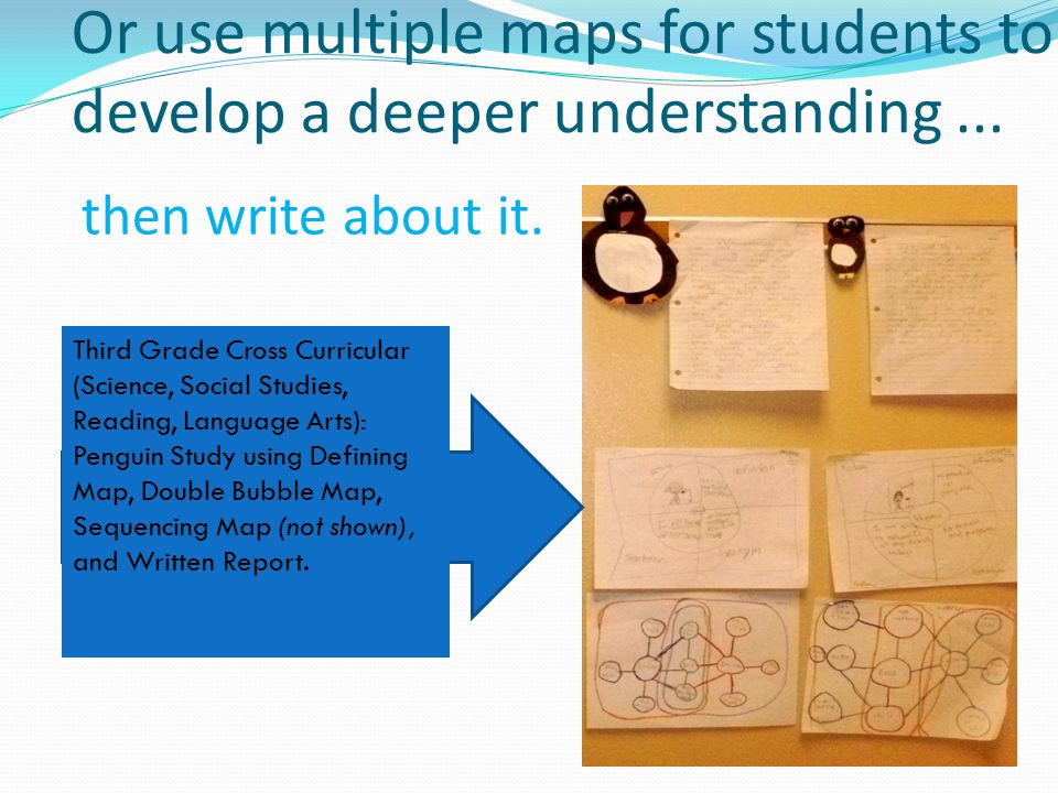 Or use multiple maps for students to develop a deeper understanding ...