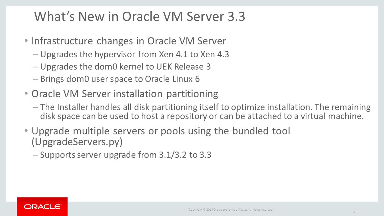 What's New in Oracle VM Server 3.3