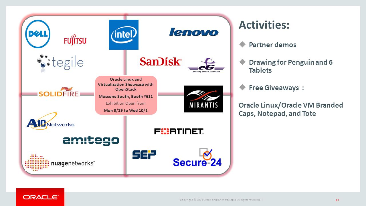 Oracle Linux and Virtualization Showcase with OpenStack