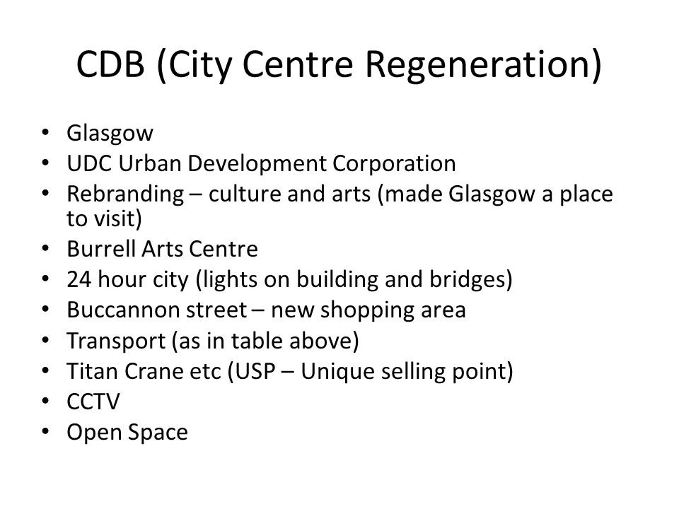 CDB (City Centre Regeneration)