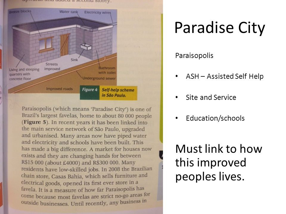 Paradise City Must link to how this improved peoples lives.