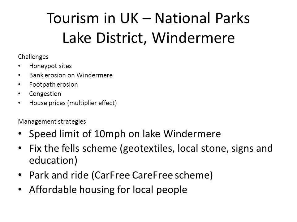 Tourism in UK – National Parks Lake District, Windermere