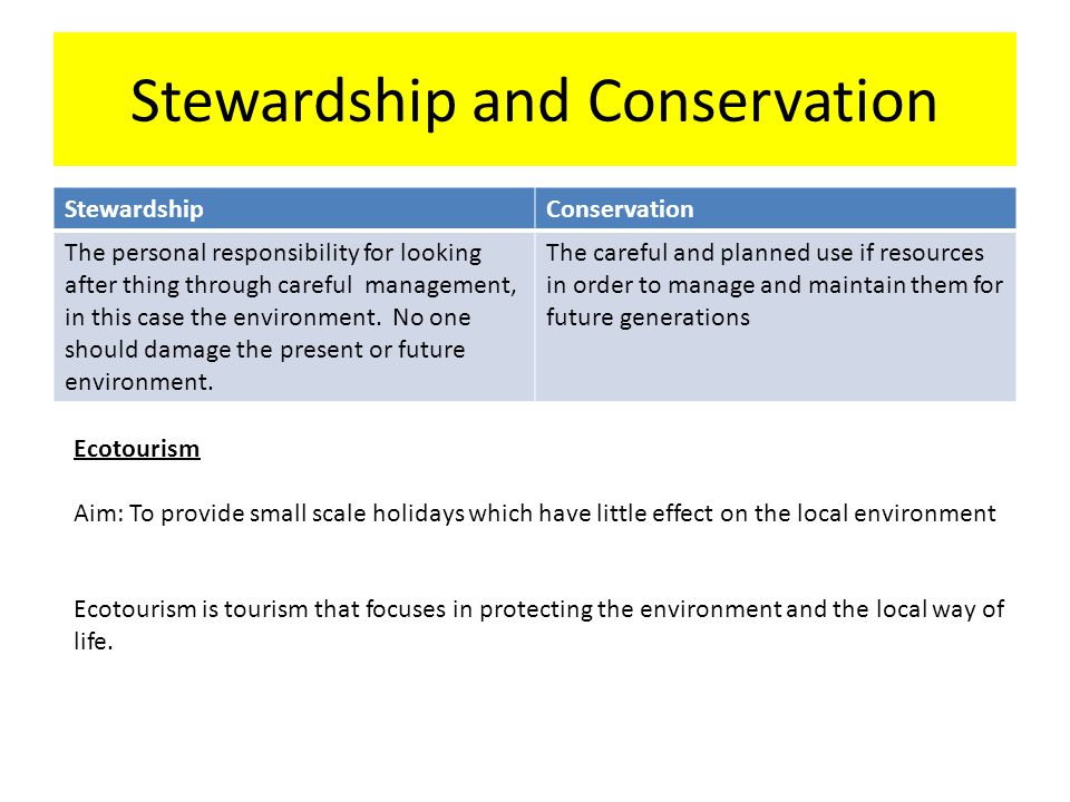 Stewardship and Conservation