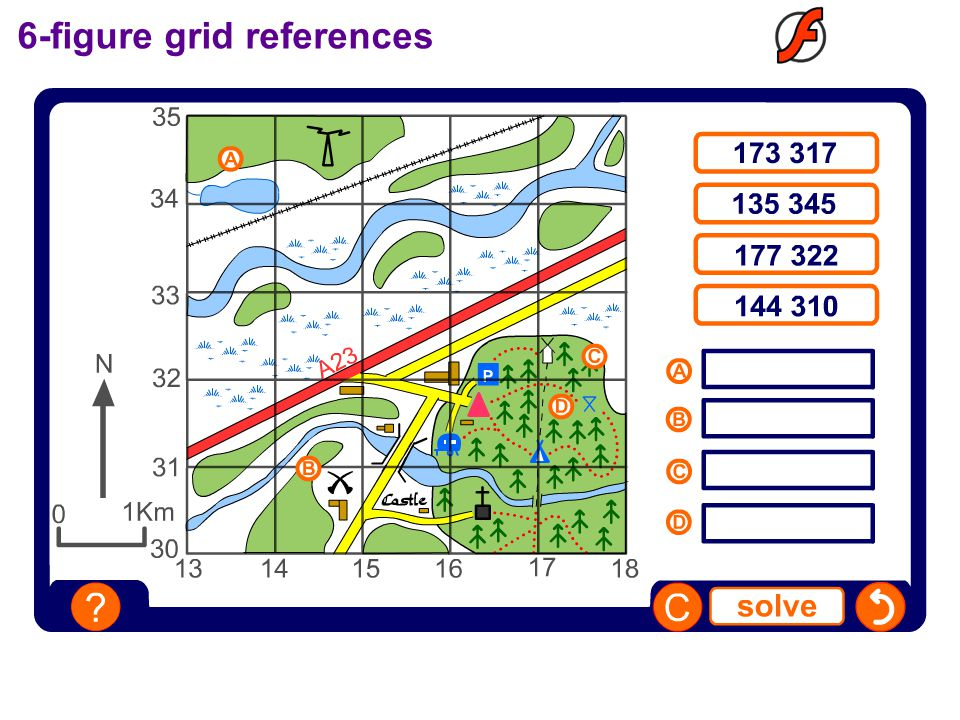 6-figure grid references