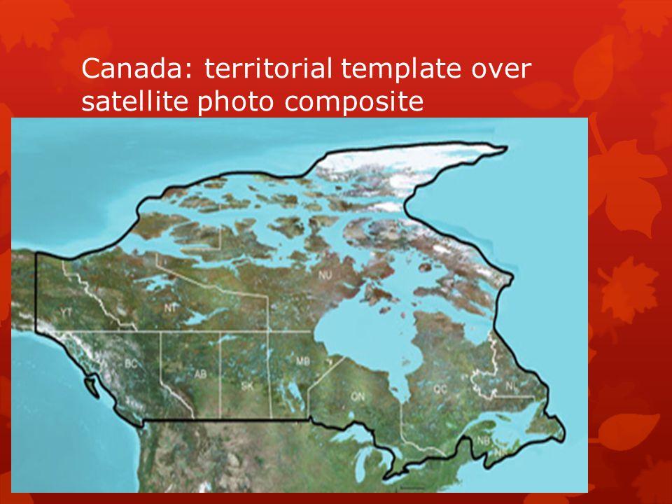 Canada: territorial template over satellite photo composite