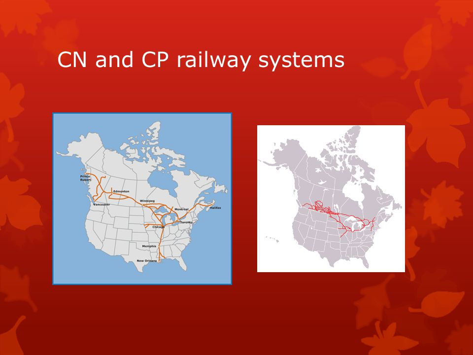 CN and CP railway systems