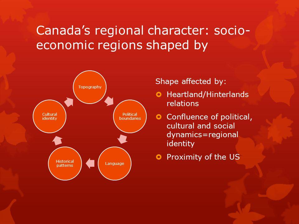 Canada's regional character: socio-economic regions shaped by