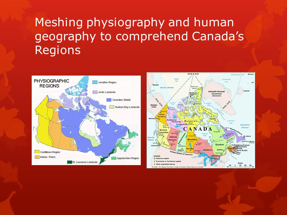 Meshing physiography and human geography to comprehend Canada's Regions