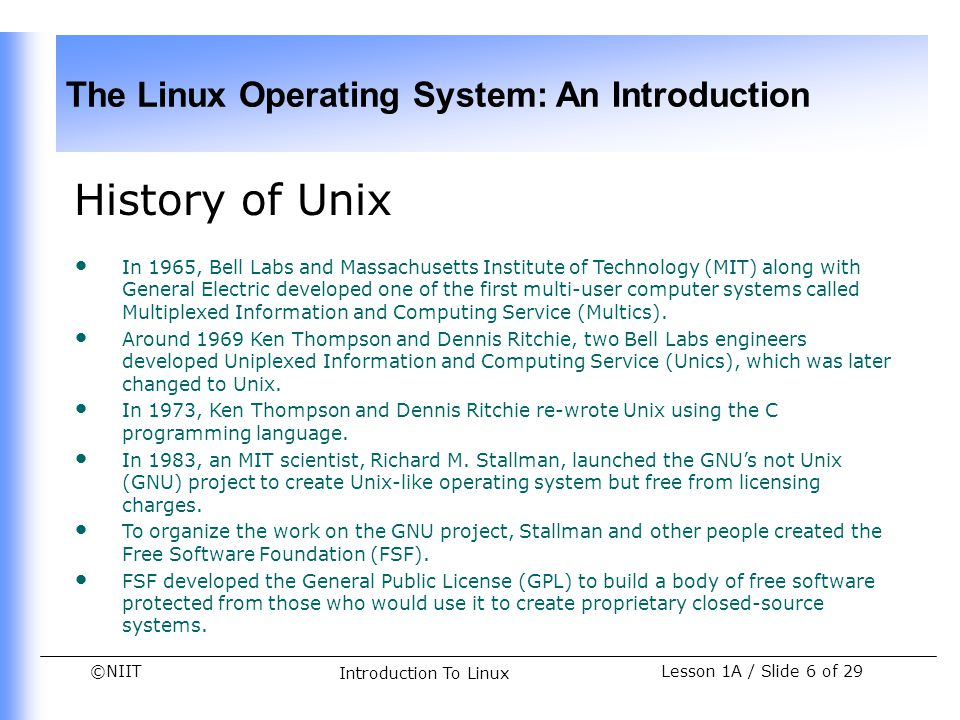 History of Unix