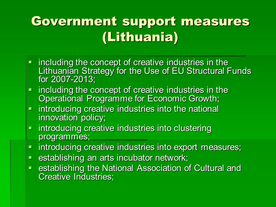 Government support measures (Lithuania)