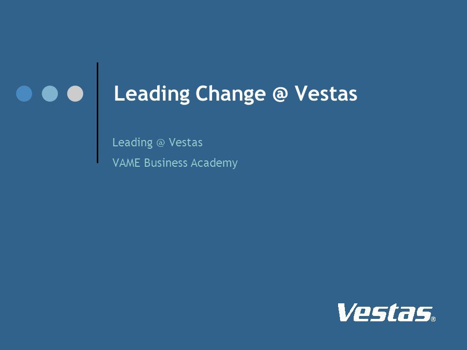 Leading Change @ Vestas